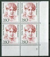 Bund Frauen Nr. 1393 Formnummer 2 ERVB postfrisch Eckrand Viererblock FN 350 Pf
