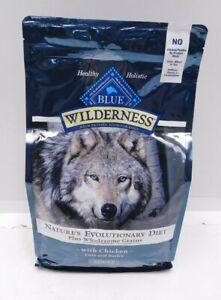 Blue Buffalo Wilderness Adult High Protein Dog Food 4.5 lbs Chicken Oats Barley