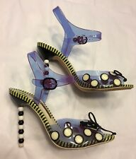 SOPHIA WEBSTER transparent polka dot pop art ankle strap heels shoes 37 UK 4