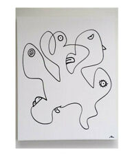 Abstract Art Painting Drawing on Canvas Pablo Picasso Classic Modern Pop Artwork