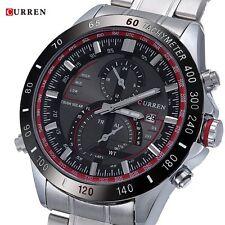 CURREN Men's Stainless Steel Quartz Calendar Date Analog Sport Wrist Watch