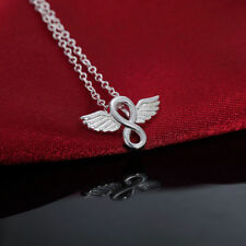 Angel Wing Necklace Infinity Necklace Angel Necklace - 925 Silver