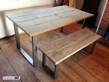 U Frame Dining Table - Reclaimed Modern Farmhouse Industrial John Lewis Calia