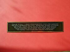 New listing U.S.A. 2019 Presidents Cup Autograph Nameplate For A Golf Photo Or Photo 1.5 X 8