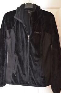 Ladies Marmot Fleece Hoody Jacket Large Black