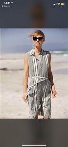 M&Co Stripe Linen Dress Size 10 Worn Once
