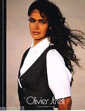 PUBLICITE ADVERTISING 055  1988  OLIVIER STRELLI   haute couture