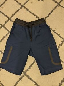 Under Armour Sportstyle Elite Cargo Mens Shorts Blue Academy Heat Gear STORM UA