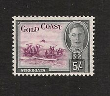 GOLD COAST, 1948 5/- Surfboats, Purple & Black,  SG 145 - MNH