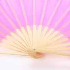 1 Pair Tulle Bamboo Frame Folding Hand Fans Dance Wedding Party Stage Prop Decor