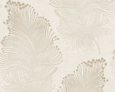 Bohemian Burlesque Cream and Pale Gold Feather Wallpaper 96045-5