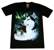 T-Shirt Husky Gr. S, M, L, XL Hunderasse Indianer Biker Wild Hund Alaska Wolf