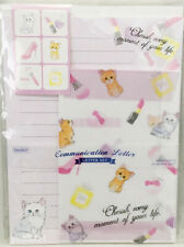 Letter Pad + Envelope Set Animal Cat Cute Kawaii Daiso Japan Stationary Sticker