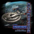 Star Trek: Enterprise TV Series NX-01 Ship Collage T-Shirt Size XXXL, NEW UNWORN