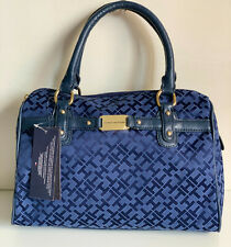 NEW! TOMMY HILFIGER BLUE BOWLER SATCHEL DOCTOR BAG PURSE $75 SALE