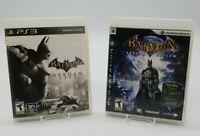 Batman: Arkham Asylum & Arkham City (Sony PlayStation 3 PS3) Lot of 2 Complete
