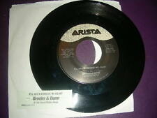 """Country 45 Brooks & Dunn """"I'll Never Forgive My Heart"""" 1994 VG+ Title Strip"""