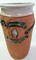 Vintage Stoneware Vase Studio Pottery Signed Chop Mark GP Beautiful Art Design