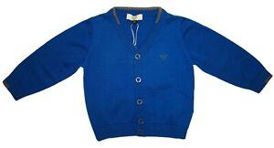 Armani Boys Blue / Grey Wool And Cotton Cardigan 24 months BNWT - RRP £135