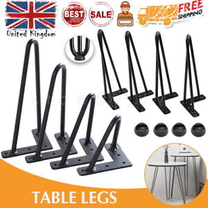 4 x Hairpin Table Legs Hair Pin Legs Set for Furniture Bench Desk Metal Steel