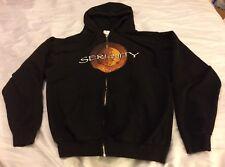 Firefly Serenity Movie Hoodie Jacket Sweater Zipper Medium M Black VGUC