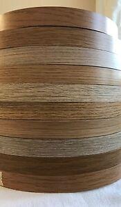 Oak/Light Oak Pre Glued Iron on Melamine Edging Tape various oak colours