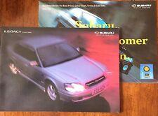 Subaru Legacy 2.5 & 2.0 Berline Gamme voiture brochure + 1999 liste de prix. GL GX AWD