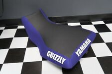 Yamaha Grizzly 660 Blue Side Grizzly and Back Yamaha Logo Seat Cover #yz80kya80