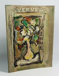 Revue Verve n°4. Tériade, 1938. EO. Lithos originale MATISSE, DERAIN