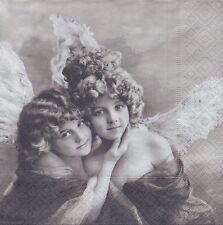 2 Serviettes en papier Anges Vintage Decoupage Paper Napkins Angels Sagen