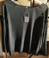 NWT WALLIS BLACK LONG SLEEVED TOP Size 20