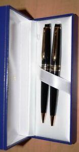 Waterman Expert II  Set Black & Gold Ballpoint Pen & 0.5mm Pencil  New In Box