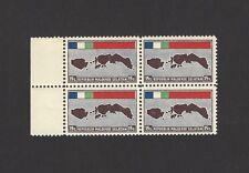 Republik Maluku Selatan 15 sen Country map 1950 MNH block of 4