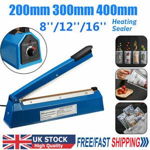 "Electric Hand Impulse Sealer Plastic Bags Film Heat Sealing Machine  8"" 12"" 16"""