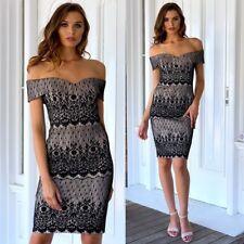 Gorgeous Dress Off The Shoulder Size 18 Black Lace