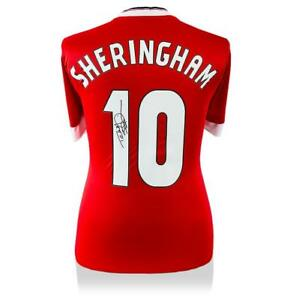 Teddy Sheringham Back Signed Manchester United Home Shirt Autograph Jersey