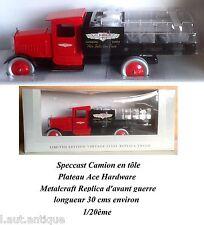 Speccast Camion en tôle Plateau Ace Hardware Metalcraft Replica 1/20ème