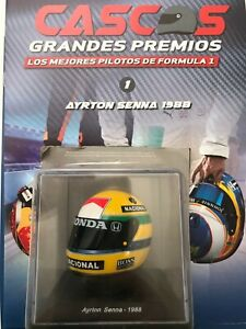 Ayrton Senna (1988) helmet collection 1/5 new sealed From Argentina Discontinued