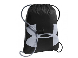 Under Armour Drawstring Bag Authentic UA Ozsee Black Lightweight Student Athlete