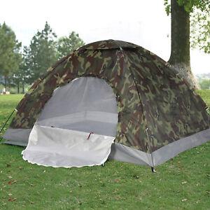 Garden Casual 2 Person Man Tent Folding Camping Hiking Outdoor Beach Camo Tent