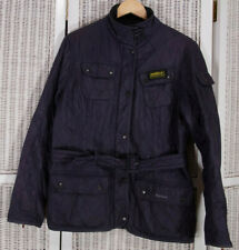 BARBOUR Vtg Polarquilt Women's Quilted Jacket Royal Blue UK18 L Warm Belted Coat