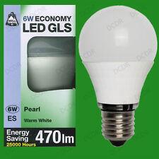10x 6 W LED GLS cálido blanco bombilla instantánea es E27 Lámpara Rosca Edison 470 LM