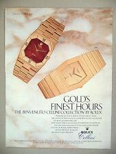Rolex Cellini Watch PRINT AD - 1982 ~ wristwatch