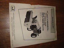 """Jacobsen 42"""" Single Stage Snow Thrower For GT Series Tractor Parts List"""