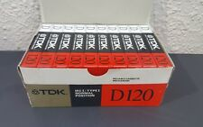 TDK D120 (Original Box of 10) : 1988 : MADE IN JAPAN : NEW & SEALED