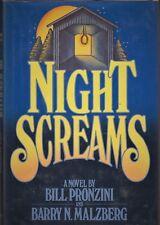 NIGHT SCREAMS (1979) Bill Pronzini SIGNED & Barry Malzberg - Playboy Press HC