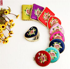 20pcs Chinese natio na features gift silk embroidery mirror double sided mirror