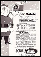 PUBBLICITA' 1953 PANETTONE MOTTA BABBO NATALE LISTINO CONCORSO DONO DOLCI MILANO