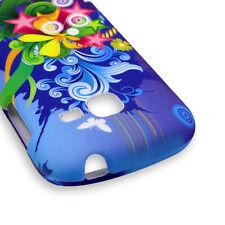 Protector Case Samsung Galaxy Centura S738C Discover S730G - Orange Blue Fl