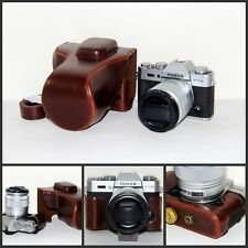 Coffee leather case bag for Fujifilm X-T20 camera w/ 16-50 or 18-55mm lens XT20